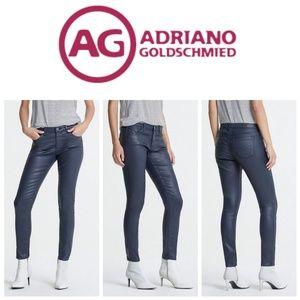 AG leatherette navy skinny ankle leggings (25)